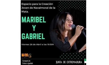 Concierto de Maribel y Gabriel en el Espacio para la Creación Joven de Navalmoral