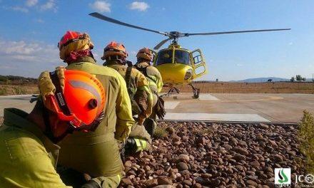 La Junta contratará el servicio de 9 helicópteros para luchar contra incendios forestales