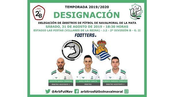 Jayro Muñoz debuta en 2ª División B arbitrando el partido Unionistas de Salamanca Vs Real Sociedad B