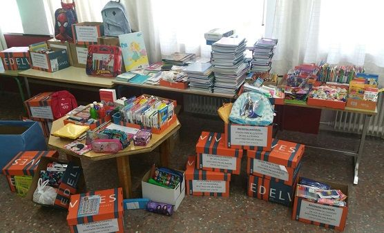Éxito de la campaña de recogida de material escolar para Los Alcáceres