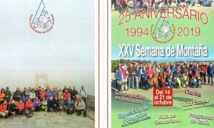 El Centro Excursionista del Campo Arañuelo CECA celebra su 25 aniversario