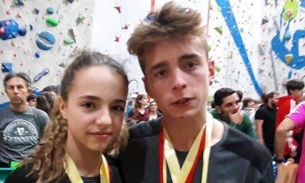 Los escaladores jaraiceños, Pablo y Andrea Rodríguez, consiguen seis medallas en el Cto. de España