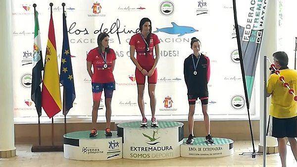 Laura Ballesteros de ADA Navalmoral, en el XXX Cto de Extremadura Absoluto en Cáceres