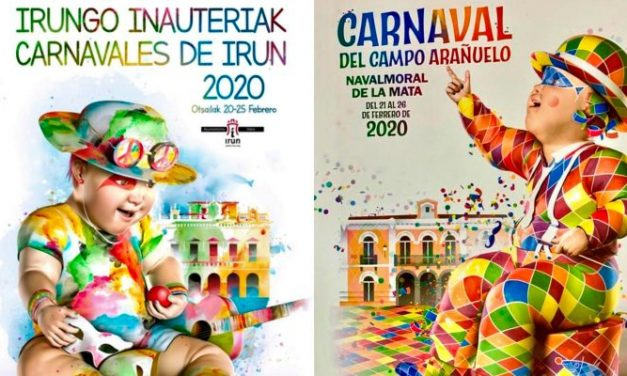 El cartel del carnaval moralo 2020 y el de Irún comparten temática y autor