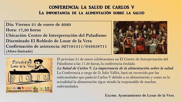 El Centro de Interpretación del Paludismo acoge una  conferencia sobre La Salud de Carlos V