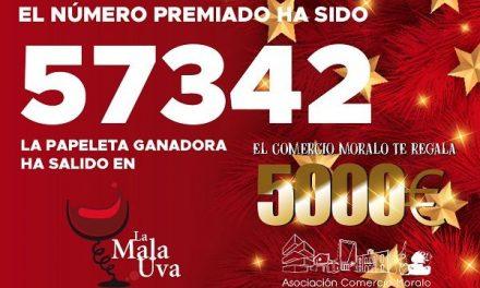 El 57342 es el número premiado en el sorteo de 5000€ del Comercio Moralo
