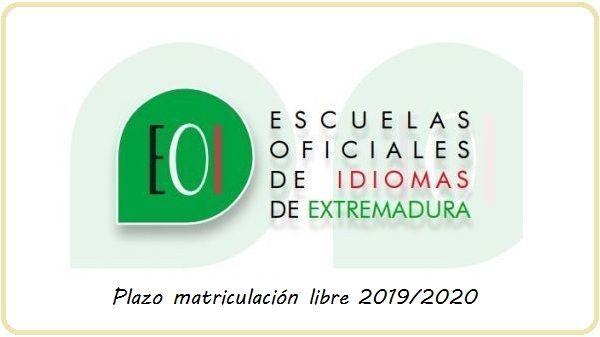 Abierto plazo para la matriculación en la modalidad libre de las EOI de Extremadura