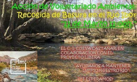 El C.I. Cueva de Castañar organiza una batida contra la basuraleza en en el río Ibor