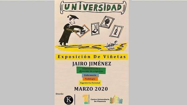 """Jairo Jiménez expone """"Universidad"""" en el Campus de Plasencia"""