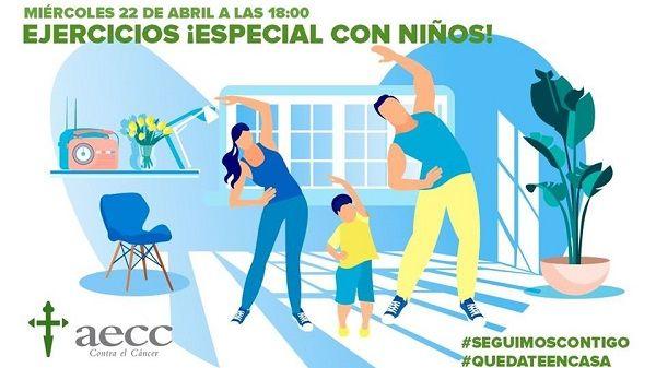 La AECC organiza EN MARCHA, actividades familiares online para luchar contra el Covid19
