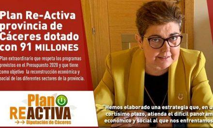 Diputación pone en marcha el Plan extraordinario Re-Activa provincia de Cáceres