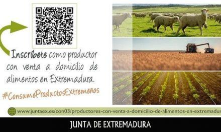Los productores de alimentos extremeños con venta a domicilio pueden registrarse en un proyecto piloto de la Junta