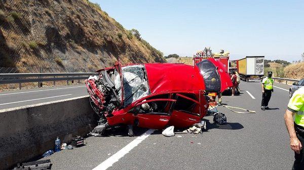 Cuatro mujeres heridas, dos de ellas graves, en un accidente de tráfico en la A5