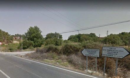 Motorista herido en un accidente de tráfico en la carretera de Barquilla a Tiétar