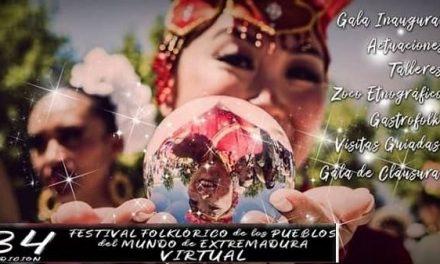 Da comienzo la 34 Edición Virtual del Festival Folklórico de los Pueblos del Mundo de Extremadura