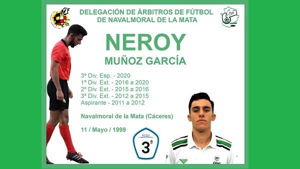 El árbitro moralo, Neroy Muñoz García, asciende a la Tercera División nacional