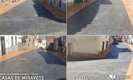 Casas de Miravete finaliza las obras de pavimentación y redes del Plan Activa 2020