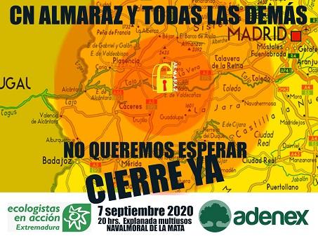 ADENEX celebra este año la manifestación antinuclear en la explanada del Multiusos moralo