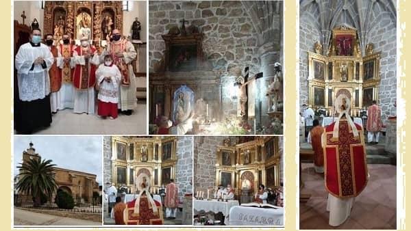 El arzobispo de Toledo celebra la misa del Cristo de la Misericordia en Peraleda de San Román