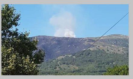 Se reproduce en Guijo de Santa Bárbara el incendio de La Vera-Jerte