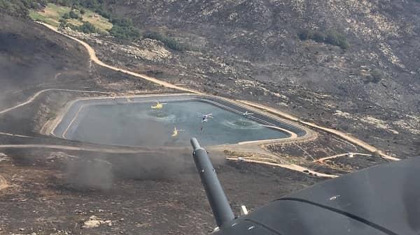 Infoex y ATBrif vigilan tres puntos calientes del incendio de La Vera-Jerte