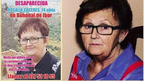 Nuevo dispositivo para buscar a Rosalía Cáceres, que lleva DESAPARECIDA casi cinco meses