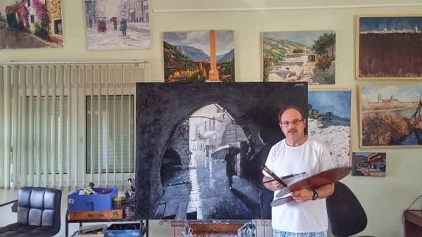 La obra de Juan Nuñez-Romero, Una calle de Lisboa, seleccionada en el 87 Salón de Otoño de Pintura