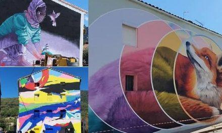 Losar de la Vera luce ya los tres murales que clausuran Muro Crítico 2020