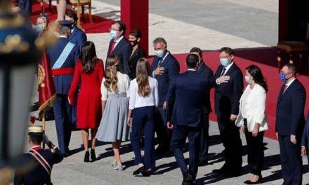 El presidente de Extremadura, asiste a los actos del Día de la Fiesta Nacional presididos por los Reyes
