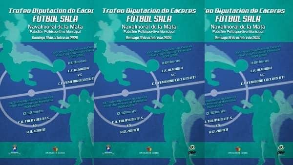 Las finales del XVI Trofeo Diputación de Fútbol Sala se juegan en el pabellón municipal moralo