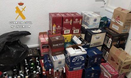 La Guardia Civil esclarece varios delitos de robo de bebidas alcohólicas