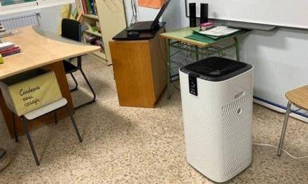 La AMPA del CEIP Sierra de Gredos entrega al centro otros 4 purificadores de aire