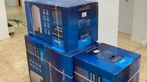 La AMPA del CEIP Sierra de Gredos entrega al colegio los primeros purificadores con filtros HEPA