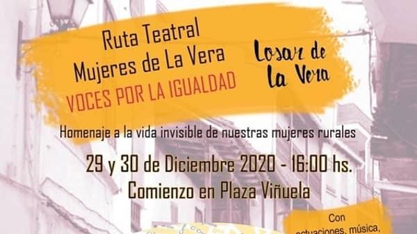 La Ruta Teatral Mujeres en la Vera comienza hoy en Losar