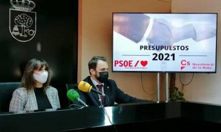 Cs Navalmoral y el PSOE moralo presentan su acuerdo para los Presupuestos 2021