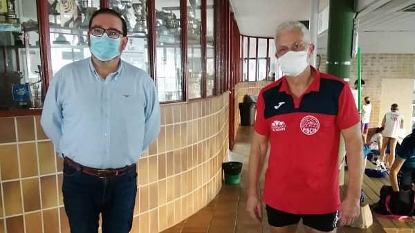 Javier Tejero Vivo del Club Natación Piscis, Récord de Extremadura en su categoría