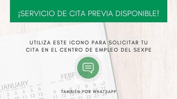 El SEXPE habilita un nuevo número de whatsapp para solicitar cita previa
