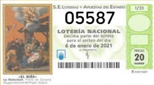 El 05587 reparte en Almaraz el tercer premio de la lotería del Niño