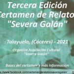 Convocada la III Edición del Certamen de Relatos Severa Galán