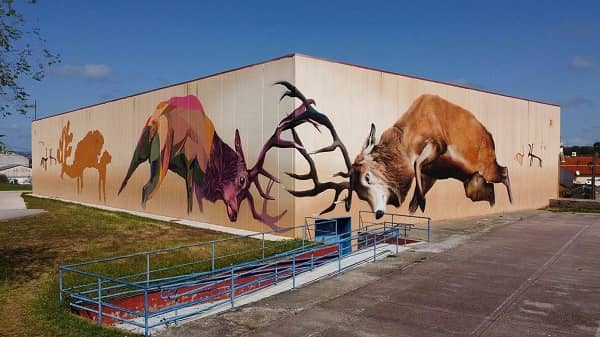 Monfragüe estrena en Torrejón el Rubio un nuevo mural artístico