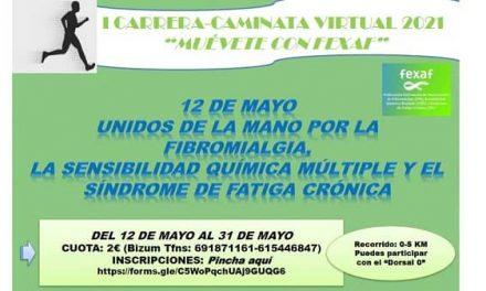 La Federación Extremeña de las Agrupaciones de Fibromialgia organiza la I Carrera-Caminata Virtual 2021