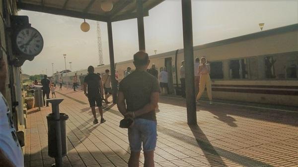 Extraños ruidos, sacudidas y olor a quemado en un tren procedente de Madrid