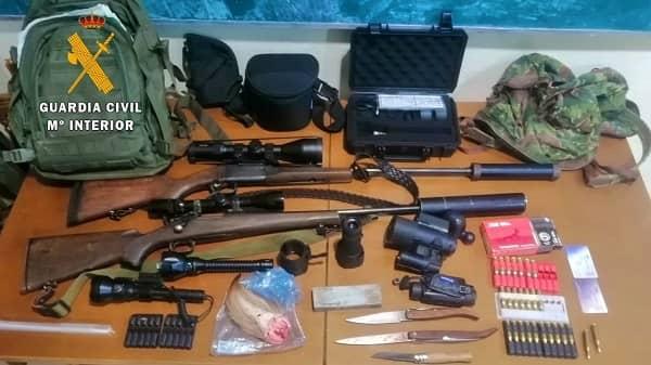 Detenidos dos cazadores furtivos en Serrejón