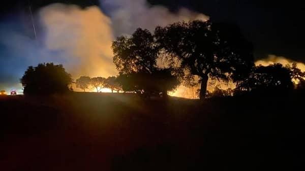 El Gordo agradece la colaboración recibida para extinguir el incendio declarado en su dehesa