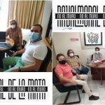 Representantes de No al Muro se reúnen con los sindicatos UGT y CCOO en Mérida