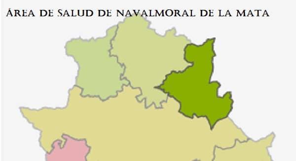 Datos de la incidencia acumulada en el área, zona de Salud y municipio de Navalmoral