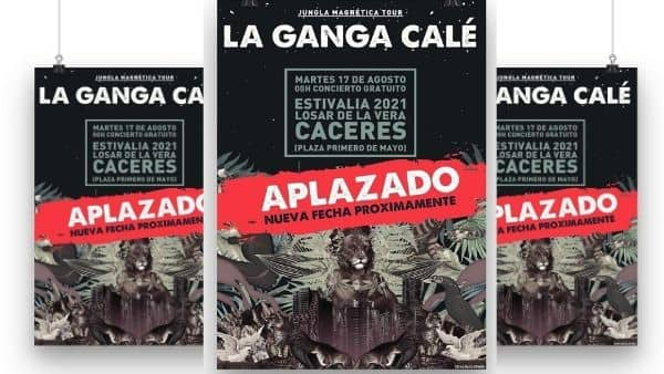 Aplazado en Losar el concierto de La Ganga Calé, de ESTIVALIA 2021