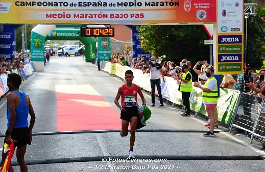 El talayuelano Houssame Benabbou, subcampeón de España de media maratón