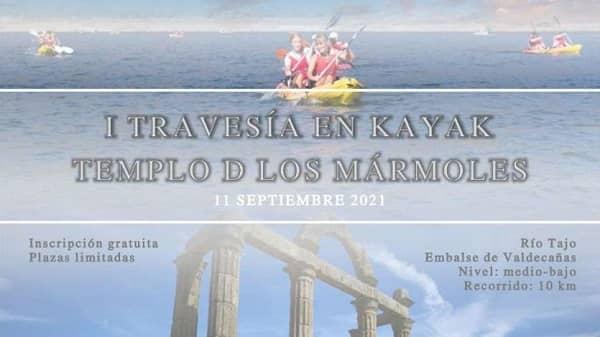 """La I Travesía en Kayak """"Templo de Los Mármoles"""" se celebra este fin de semana"""