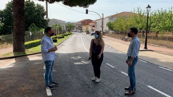 Concluyen en Robledillo las obras de reparación de la carretera CC-76